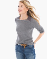 Chico's Faux Suede-Trim Mindy Pullover