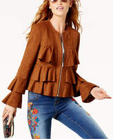 INC International Concepts Anna Sui Loves Ruffled Faux-Suede Jacket, Created for Macy's