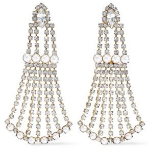 Elizabeth Cole 24-karat Gold-plated, Crystal And Faux Pearl Earrings