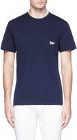 MAISON KITSUNÉ Fox logo patch T-shirt