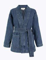 Per Una UsMarks and Spencer Denim Quilted Kimono Jacket