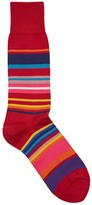 Paul Smith Black Striped Cotton Blend Socks