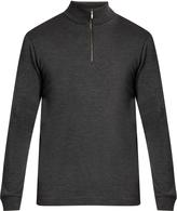Sunspel Zip-neck wool sweater