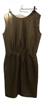 Pomandã ̈Re PomandAre Gold Wool Dresses