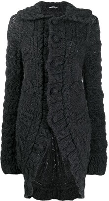 Comme Des Garçons Pre Owned 2006 Chunky Knit Elongated Cardigan