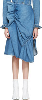 J.W.Anderson Indigo Denim Ruffled Skirt