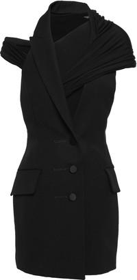 Alexander Wang Cutout Wool-twill And Jersey Mini Dress