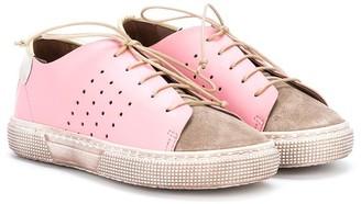 Pépé Contrast Colour Lace-Up Sneakers