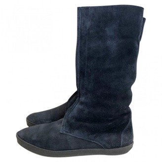 Burberry Navy Suede Boots