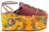 Gucci Velvet slipper with removable platform