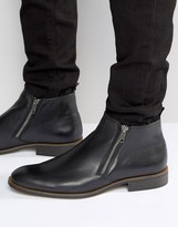 Dune Maccabee Leather Zip Boots