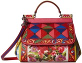 Dolce & Gabbana Printed Leather Miss Sicily Mini Bag Satchel Handbags