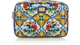 Dolce & Gabbana Majolica-print large cosmetics case