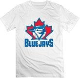 QUFGH Men's 2016 Creative Design Toronto Blue Jays Logo Cotton T-shirts