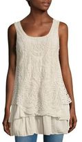 Le Marais Embroidered Layered Tank Top