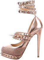 Christian Louboutin Spiked Strass Pumps