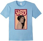 Star Wars Leia I LOVE YOU Iconic Ep.5 Quote Graphic T-Shirt