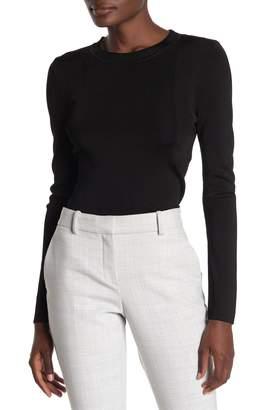 T Tahari Rib Knit Long Sleeve Pullover