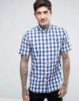 Fred Perry Short Sleeve Shirt Gingham Plaid Mix in White