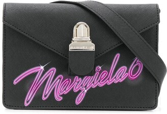 MM6 MAISON MARGIELA Small Logo Print Shoulder Bag