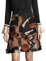 Roksanda Silk Embroidered Skirt