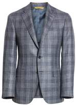 Canali Classic Fit Wool Blend Check Sport Coat