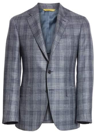 Canali Classic Fit Wool Blend Check Sport Coat