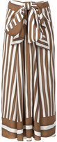 Tome Baja striped draped tie skirt - women - Silk - XS