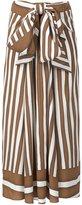 Tome Baja striped draped tie skirt