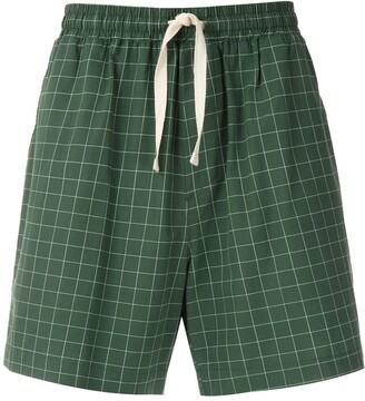 OSKLEN Checked Print Shorts
