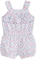 First Impressions Chevron-Stripe Ruffled Cotton Romper, Baby Girls (0-24 months), Only at Macy's