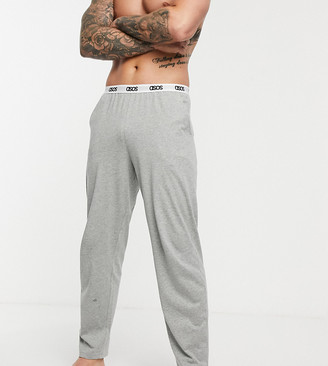 ASOS DESIGN lounge pyjama bottom in grey marl with branded waistband