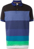 Paul Smith horizontal stripe polo shirt