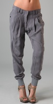 James Jeans Heather Grey Utility Harem Pant