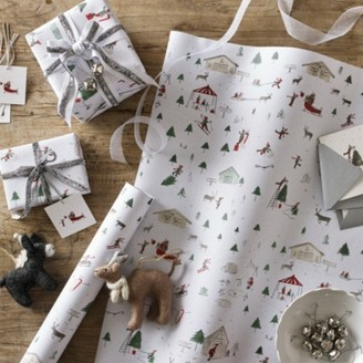 The White Company Snow Scene Wrapping Paper 5m, Multi, One Size