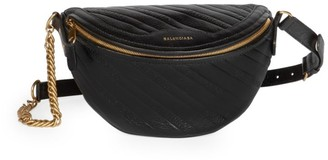Balenciaga Extra Extra-Small Souvenir Quilted Leather Belt Bag