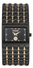 Versus By Versace Women's Velasca Black/Rose Gold Tone Stainless Steel Bracelet Watch 49mm