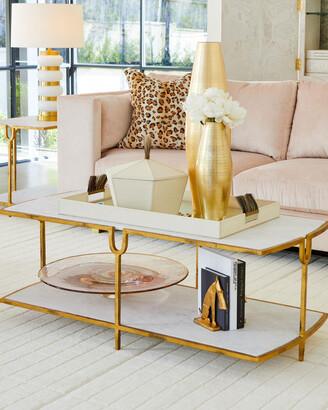 N. William D Scott Curve Gold Cocktail Table