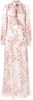 Giambattista Valli floral print pussy bow dress - women - Silk - 38