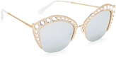 Gucci Swarovski Crystal Cat Eye Sunglasses