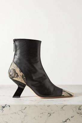 REJINA PYO Marley Leather Ankle Boots - Black