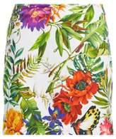 Ralph Lauren Floral-Print Satin Skort Tropical Floral 10