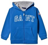Gant Blue Embroidered Branded Hoody