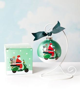 Coton Colors Here Comes Santa Claus Glass Ornament, Personalized