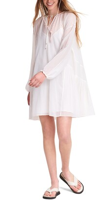 Rag & Bone Melody Long Sleeve Silk & Cotton Minidress