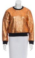 3.1 Phillip Lim Metallic Long Sleeve Sweatshirt