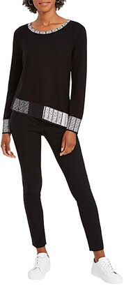 Nic+Zoe Stand Out Sweater (Black Multi) Women's Clothing