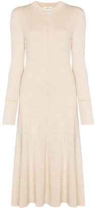 Victoria Beckham Crew-Neck Knitted Midi Dress