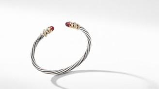 David Yurman Helena Bracelet With Garnet And Diamonds