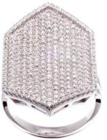 Lord & Taylor Pave Cubic Zirconia Hexagonal Ring